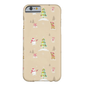 Christmas snowman and reindeer pattern barely there iPhone 6 case