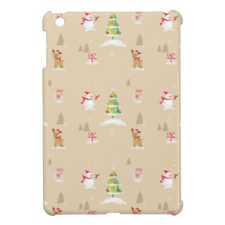 Christmas snowman and reindeer pattern case for the iPad mini