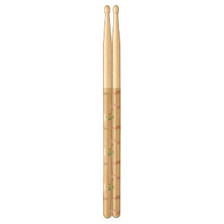 Christmas snowman and reindeer pattern drumsticks