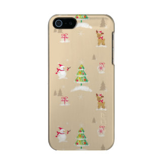 Christmas snowman and reindeer pattern incipio feather® shine iPhone 5 case
