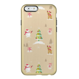 Christmas snowman and reindeer pattern incipio feather® shine iPhone 6 case