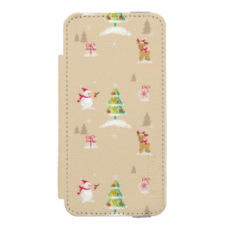 Christmas snowman and reindeer pattern incipio watson™ iPhone 5 wallet case
