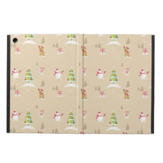 Christmas snowman and reindeer pattern iPad air case