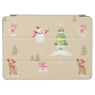 Christmas snowman and reindeer pattern iPad air cover