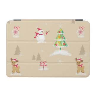 Christmas snowman and reindeer pattern iPad mini cover
