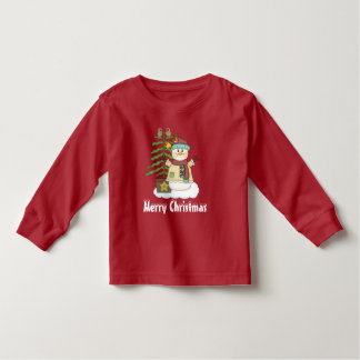Christmas snowman and tree unisex toddler t-shirt