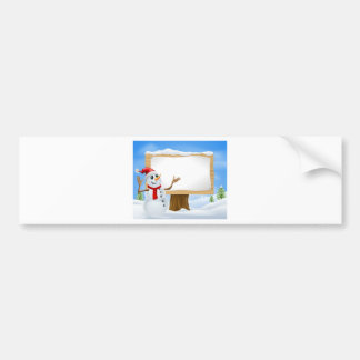 Christmas Snowman and Winter Sign Bumper Stickers