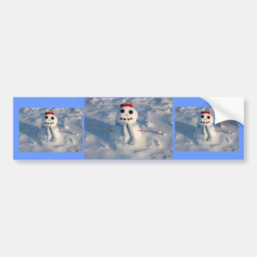 Christmas Snowman Bumper Stickers