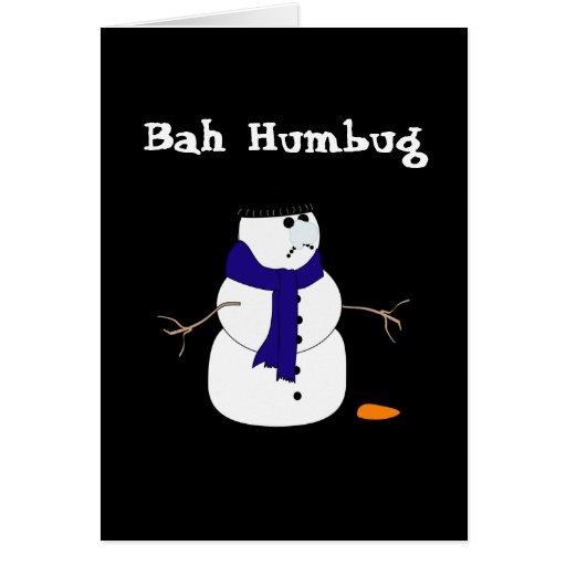 Christmas Snowman Cards Greeting Card