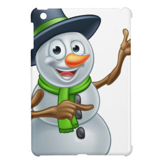 Christmas Snowman Cartoon Character Pointing Case For The iPad Mini