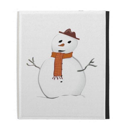 Christmas Snowman iPad Folio Cases