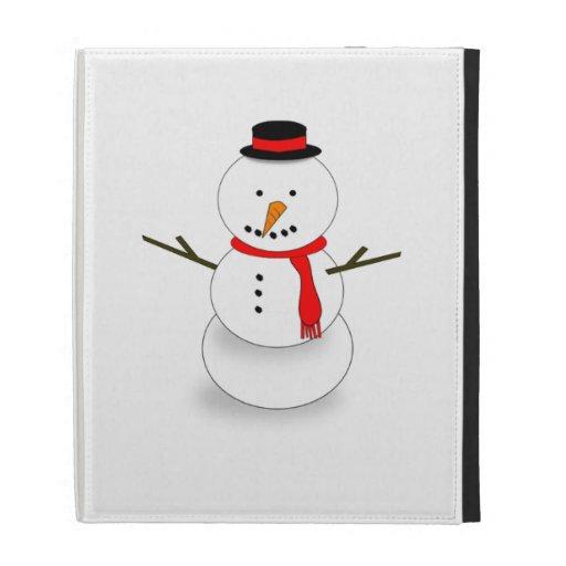 Christmas Snowman iPad Folio Case