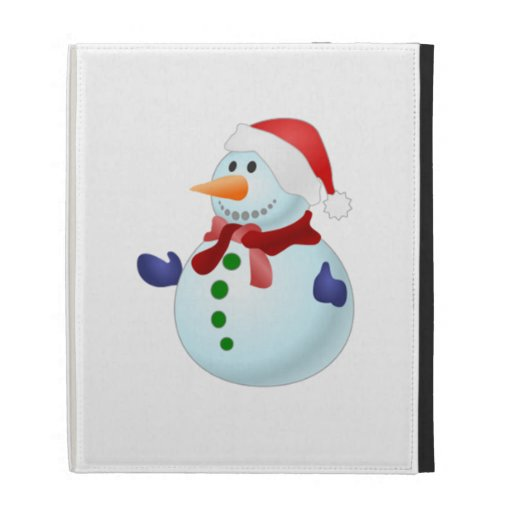 Christmas Snowman iPad Folio Cover