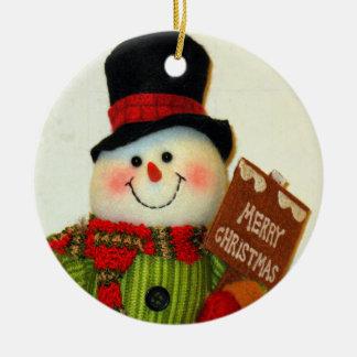 CHRISTMAS SNOWMAN CHRISTMAS ORNAMENT