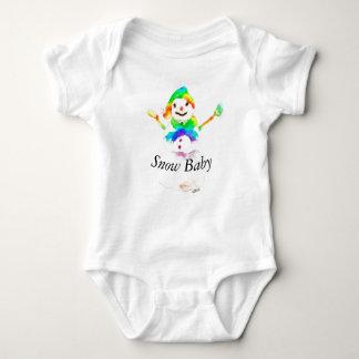 Christmas Snowman Colorful Baby Bodysuit Art