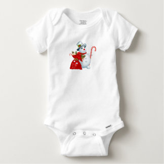 Christmas Snowman Cotton Bodysuit