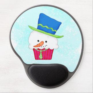 Christmas Snowman Cupcake Art Merry Christmas Gel Mouse Pad