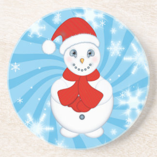 Christmas Snowman Drink Coasters