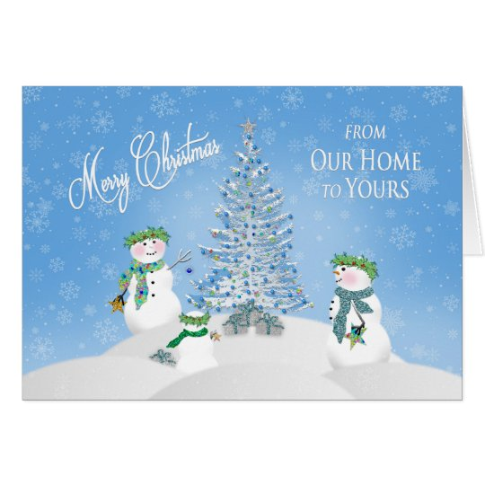 CHRISTMAS - Snowman Family -From Our Home to