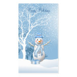 Christmas Snowman gift tag Business Card. Pack Of Standard Business Cards