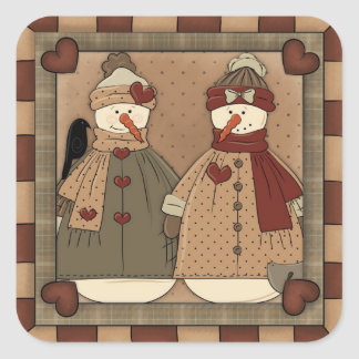 Christmas Snowman Holiday cartoon sticker