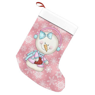 Christmas snowman Holiday cartoon stocking