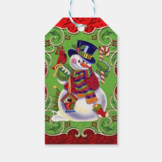 Christmas snowman Holiday gift tag