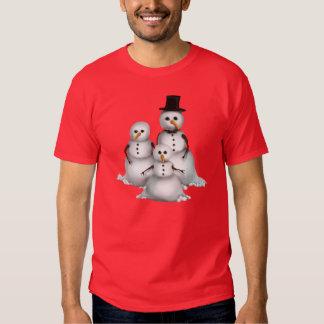Christmas Snowman Holiday mens t-shirt