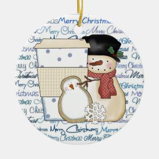 Christmas Snowman Holiday ornament