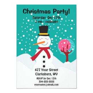 Christmas Snowman Holiday Party 13 Cm X 18 Cm Invitation Card