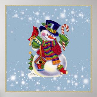 Christmas Snowman holiday poster