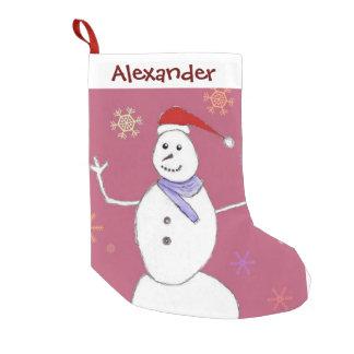 Christmas Snowman holiday stocking