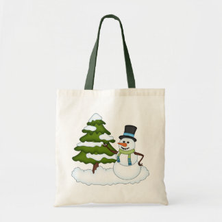 Christmas Snowman Holiday Tote Bag