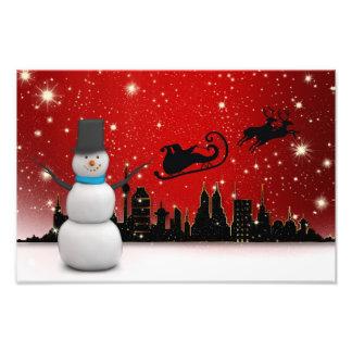Christmas snowman illustration photo art