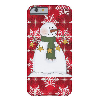 Christmas snowman iPhone 6/6s barely there case