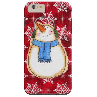 Christmas snowman iPhone six plus tough case