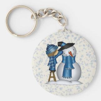 Christmas Snowman keychain