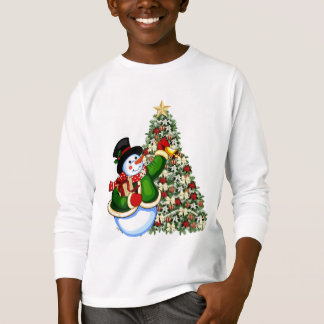 Christmas snowman kids Holiday t-shirt