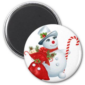 Christmas Snowman Magnet
