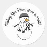 Christmas Snowman Melanoma Ribbon