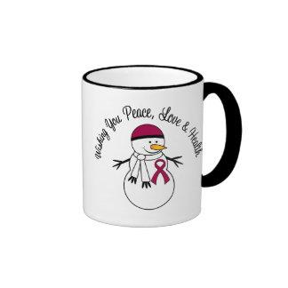 Christmas Snowman Myeloma Ribbon Mug