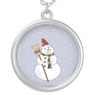 Christmas Snowman Necklace