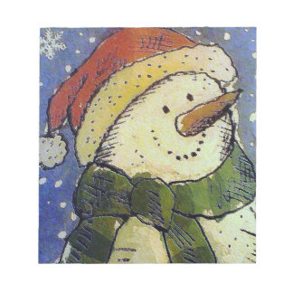 Christmas snowman notepad