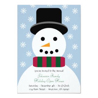 Christmas Snowman Open House Invitation