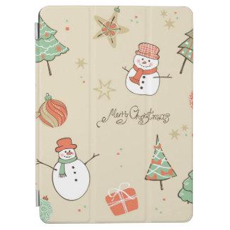 Christmas snowman pattern iPad air cover