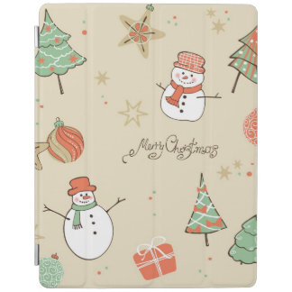Christmas snowman pattern iPad cover