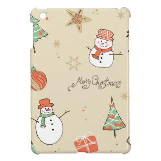 Christmas snowman pattern iPad mini cases