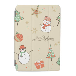 Christmas snowman pattern iPad mini cover