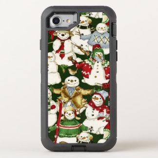 Christmas snowman pattern iPhone 7