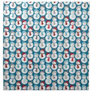 Christmas Snowman Pattern Napkin